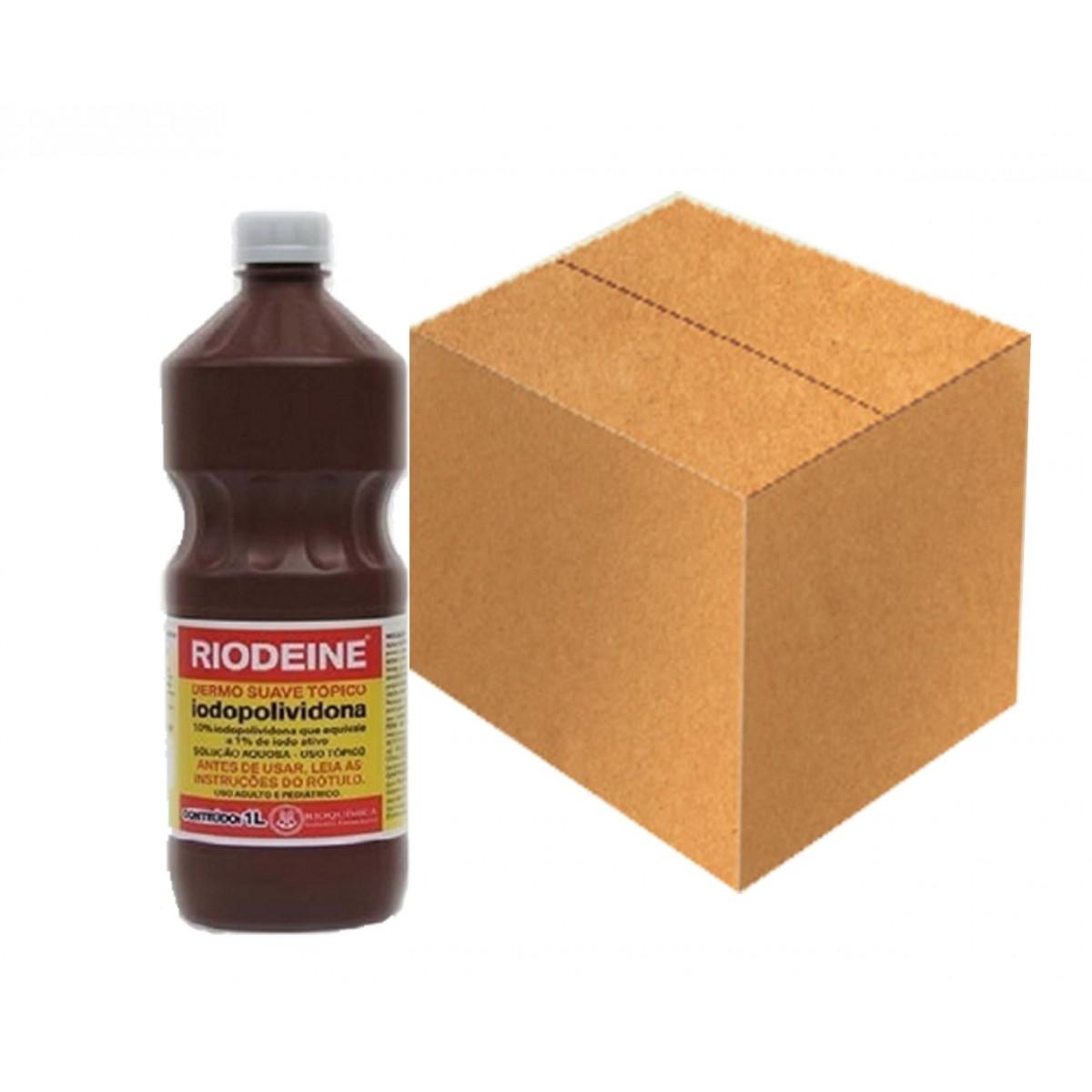 Riodeine Dermo Suave Tópico(iodopolividona 10%) 1L - Cx c/12 unid - RIOQUÍMICA