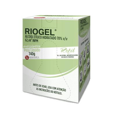 Riogel 70% Gel 740g REFIL - Cx c/ 6 - RIOQUÍMICA