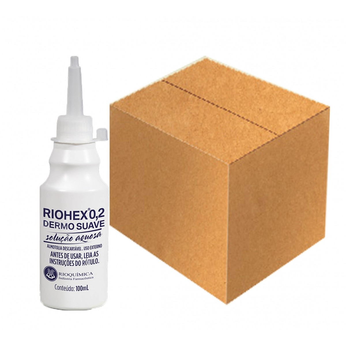 Riohex 0,2% Dermo Suave Solução Aquosa 100ml Caixa c/ 30 Unidades - RIOQUÍMICA