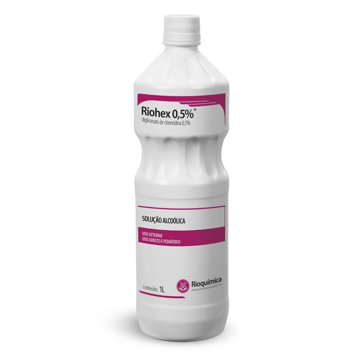 Riohex 0,5% (Digliconato de clorexidina 0,5%)  1L Caixa  c/ 12 Unidade  - RIOQUÍMICA