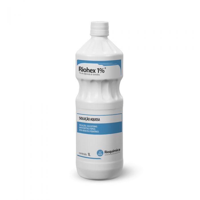 Riohex 1% (1% de digliconato de clorexidina) Solução Aquosa 1L - RIOQUÍMICA