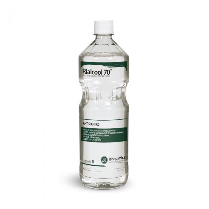Álcool Etílico Hidratado 70% INPM Rialcool 70 1L - RIOQUÍMICA