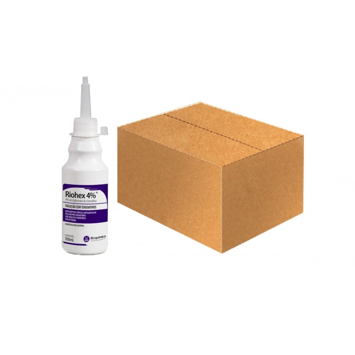 Riohex 4% (4% de Digliconato de Clorexidina com Tensoativos) -  Cx c/30 unid 100mL - RIOQUÍMICA