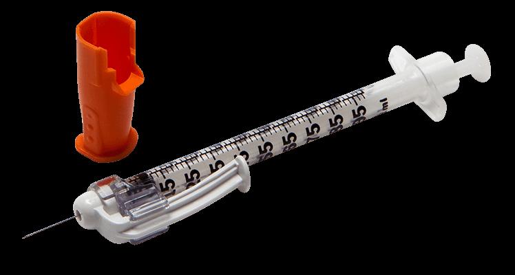 Seringa Insulina C/ Dispositivo de Segurança SafetyGlide 100U - 0,33mm X 13mm - BD