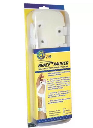 Tala de PVC P/ Punho e Polegar - ESQ - BRACE PAUHER - AC463 - ORTHO PAUHER