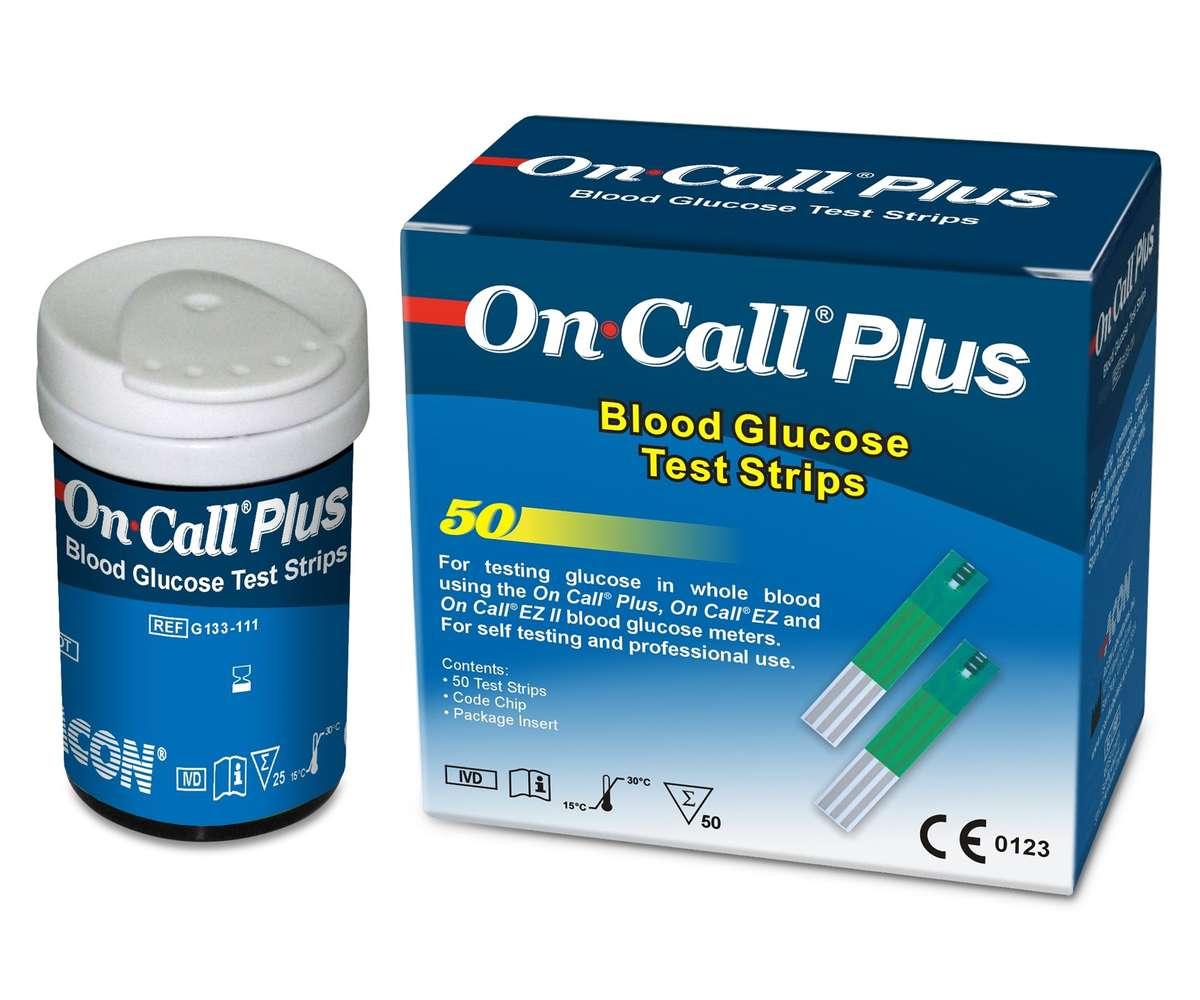 Tiras Teste Para Glicose Caixa C/ 50 Unidades - ON CALL PLUS