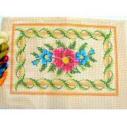 Kit Almofada Retangular Flores