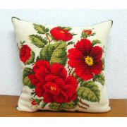 Almofada Arranjo Rosas Vermelhas II