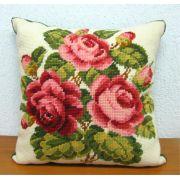 Almofada Grande Arranjo de Rosas Cor-de-rosa III