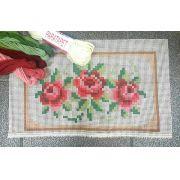 Kit Almofada Três Rosinhas (tons de rosa)