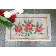 Kit Almofada Três Rosinhas (tons de vermelho)