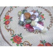 Kit Tapete Redondo Rosas