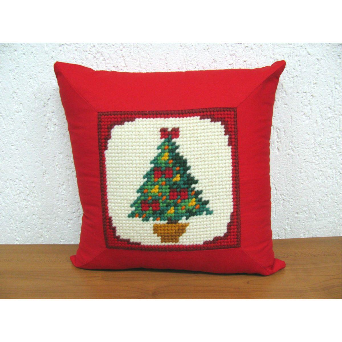 Almofada Árvore de Natal  - Conceição Spinola Tapeçaria
