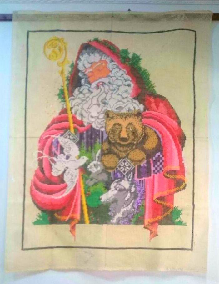 Tela Painel Papai Noel  - Conceição Spinola Tapeçaria