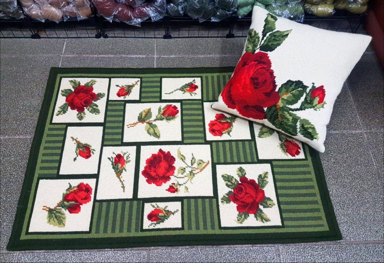 Tela Tapete Floral 31  - Conceição Spinola Tapeçaria