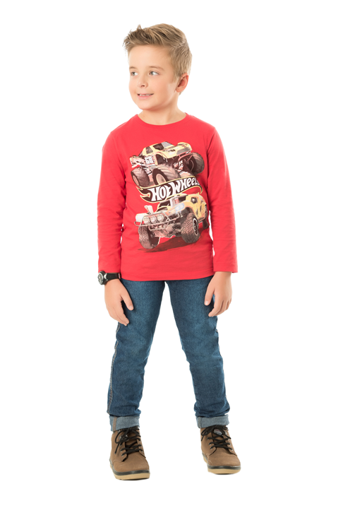 CAMISETA INFANTIL MASCULINO CARRO HOT WHEELS REF.H2406
