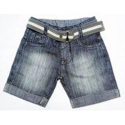 Bermuda Jeans Infantil com Cinto - Ref.3566