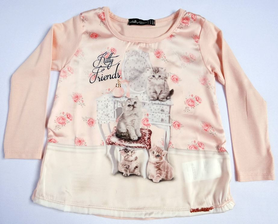 Blusa Manga Longa Kitty Friends - Ref. 30701