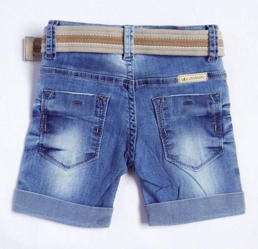 Bermuda Jeans Infantil com Cinto - Ref. 3771