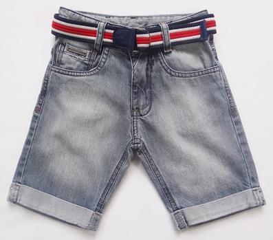 Bermuda Jeans Infantil com Cinto - Ref. 3690