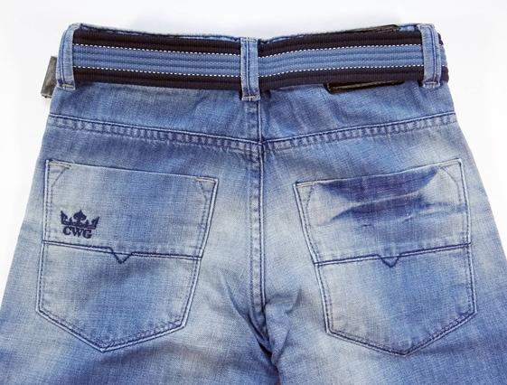 Bermuda Jeans Infantil com Cinto - Ref. 3763