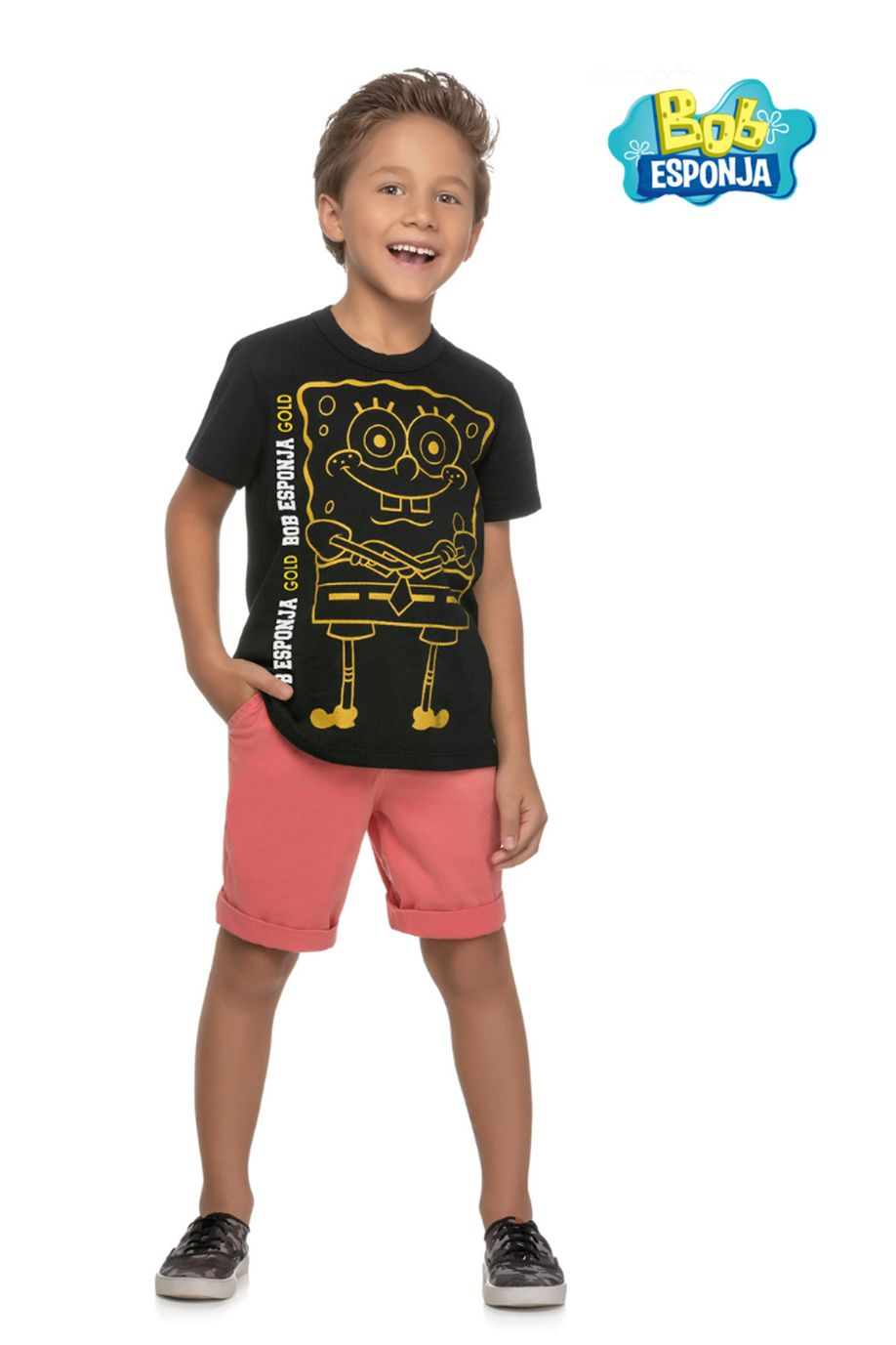 Camiseta Bob Esponja infantil REF. 84015