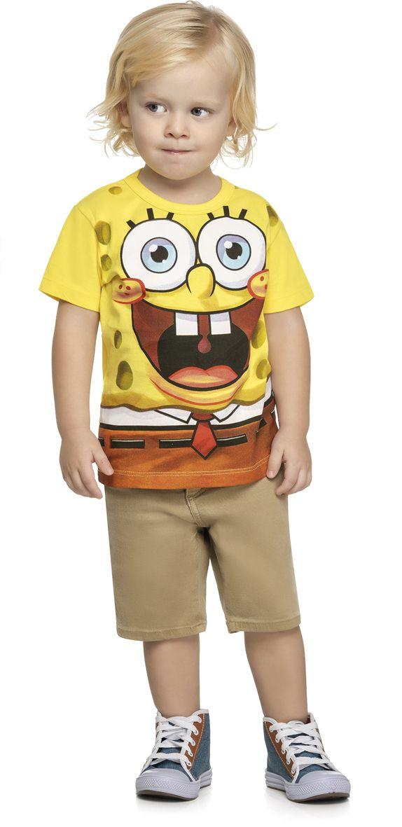 Camiseta infantil masculina Bob esponja REF.84012
