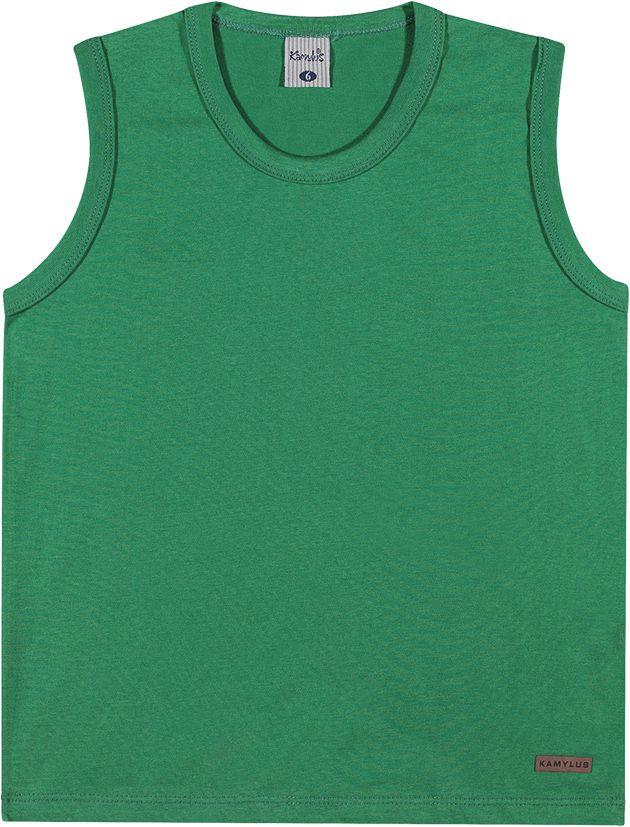 Camiseta infantil regata masculina meia malha - ref.11339