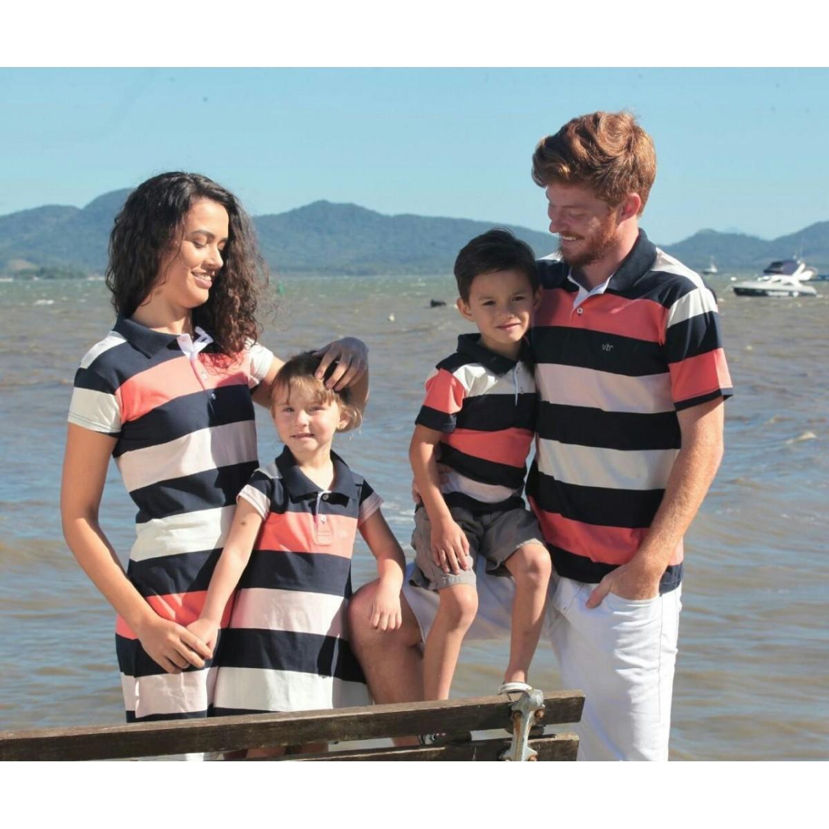 CAMISETA POLO INFANTIL MASCULINA COLEÇÃO FAMILIA REF. 40022