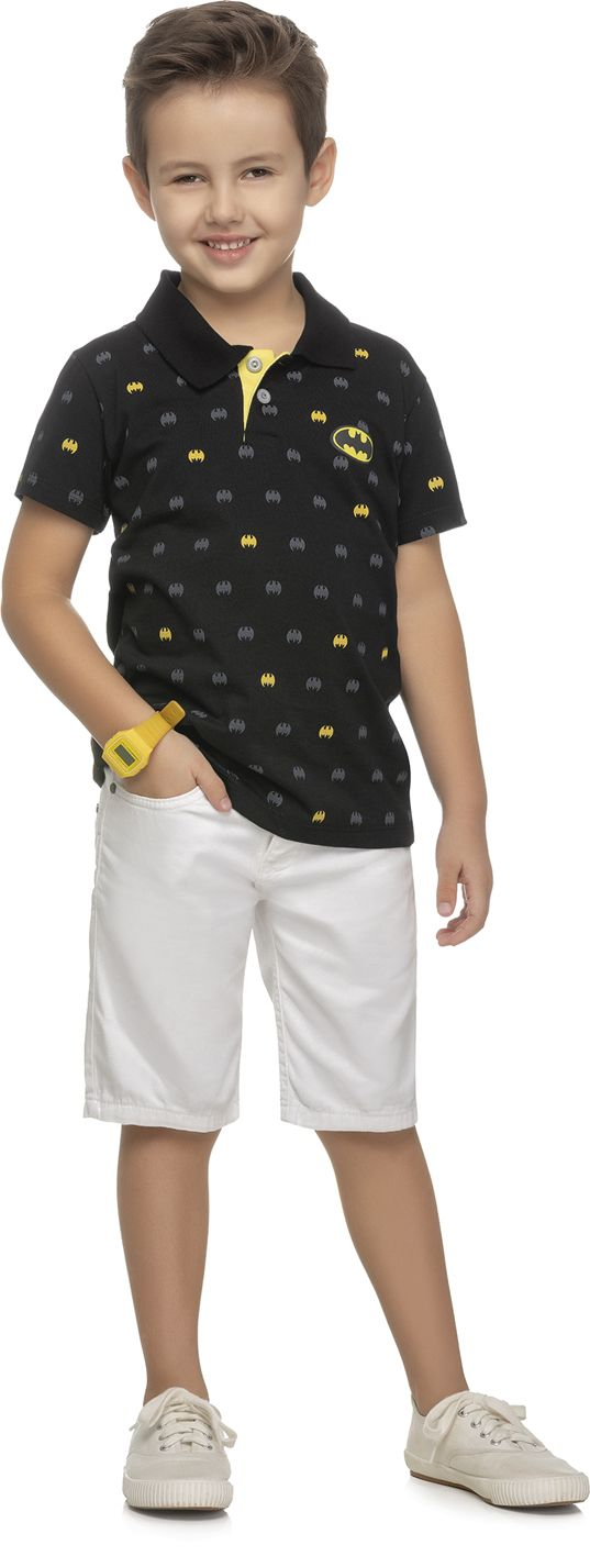 Camiseta polo masculina - Batman e Super Man REF.82085