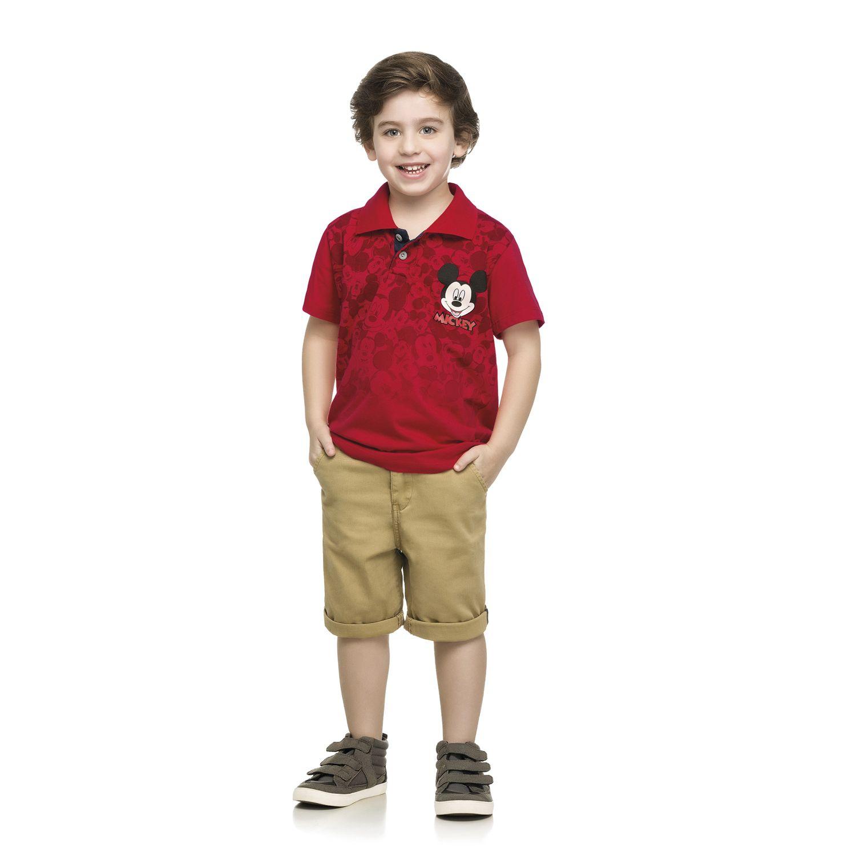 Camiseta polo masculina infantil do Mickey Mouse - REF.85000