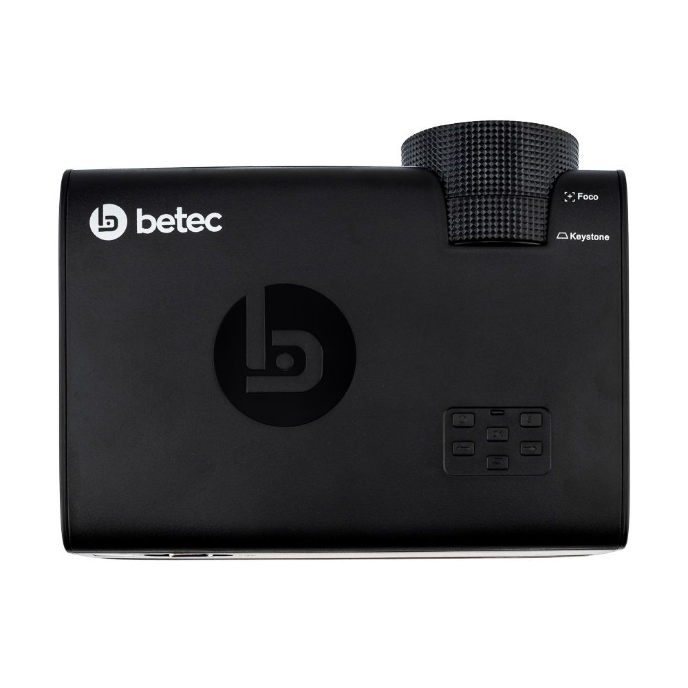 MINI PROJETOR LED PORTÁTIL - 1600 LUMENS - BETEC BT835