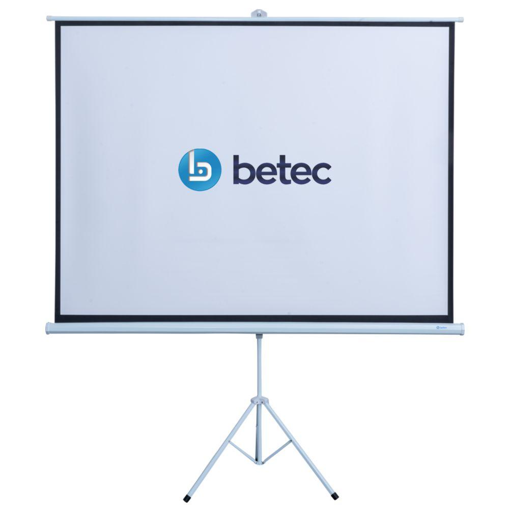TELA DE PROJEÇÃO COM TRIPÉ RETRÁTIL - 100 POLEGADAS - BETEC BT4560