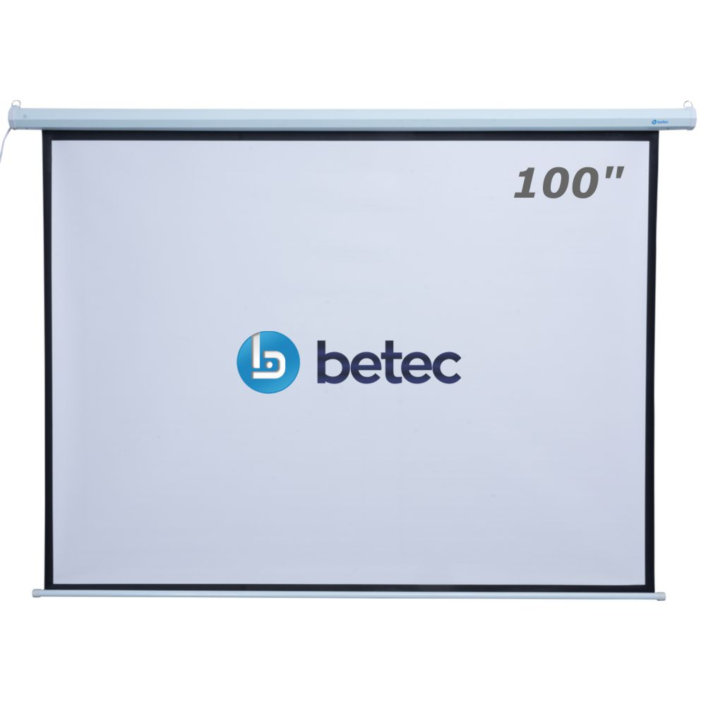 TELA DE PROJEÇÃO ELÉTRICA RETRÁTIL - 100 POLEGADAS - BETEC BT4565