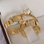 Alianças de Ouro Casamento - Noivado - 3122