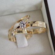 Alianças de Ouro Casamento - Noivado - 3131