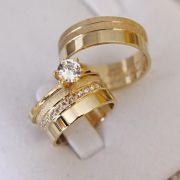Alianças de Ouro Casamento - Noivado - 3133