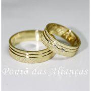 Alianças de Ouro Casamento ou Noivado -  3072