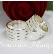 Alianças de Prata Compromisso - 3078