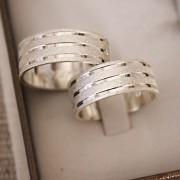 Alianças de Prata  Compromisso - 3181