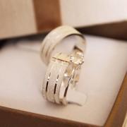 Alianças de Prata  Compromisso - 3190