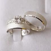 Alianças de Prata  Compromisso - 3191