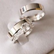 Alianças de Prata  Compromisso - 3193