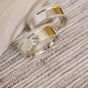 Alianças de Prata  Compromisso - 3206