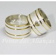 Alianças de Prata Compromisso - Noivado -  3075
