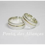 Alianças de Prata Compromisso - Noivado -  3081