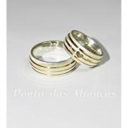 Alianças de Prata Compromisso - Noivado  - 3091
