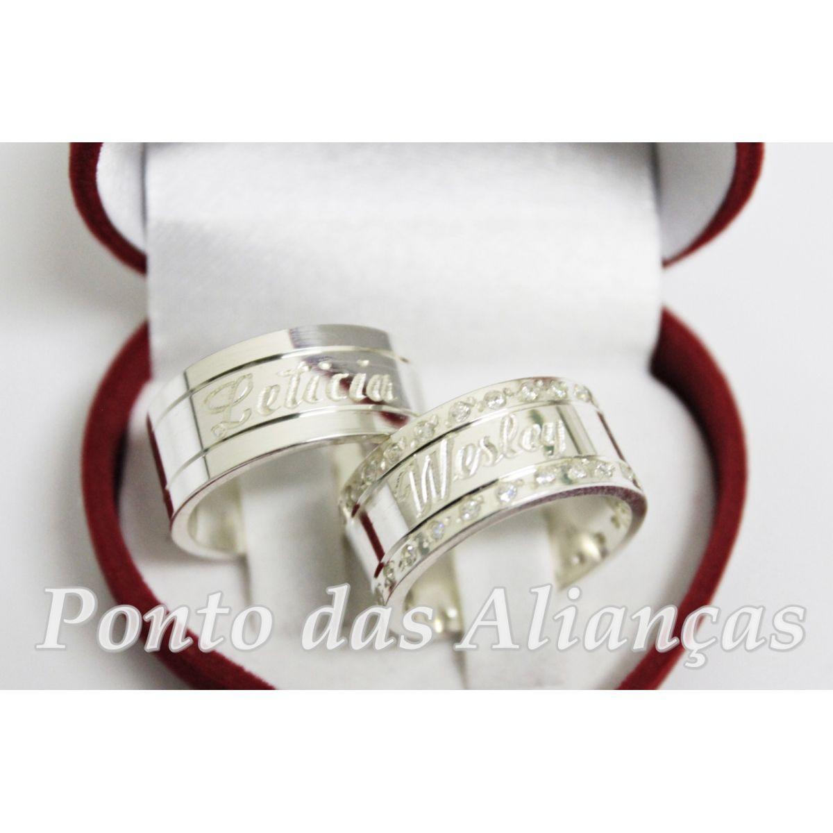 Alianças de Prata Compromisso - 1004