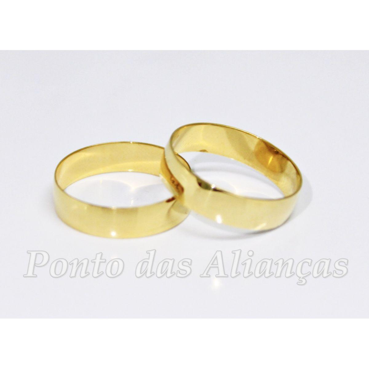 Alianças de Ouro Casamento - Noivado - 1703