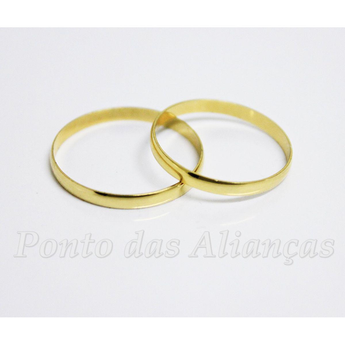 Alianças de Ouro Casamento - Noivado -  3040